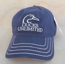 01b2879d2c9 DUCKS UNLIMITED NAVY BLUE ADJUSTABLE BALL CAP ONE SIZE FITS ALL