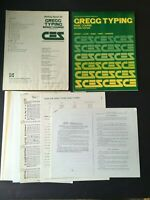 Gregg Typing Basic Course Second Edition Continuing Ed Series Vintage 1979