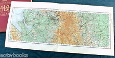 THE NORTH-EAST - LANCASHIRE & THE PEAK DISTRICT  - Vintage O.S. Cloth Map - 1922