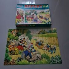 "VINTAGE RUPERT BEAR ""THE AMBUSH"" HOPE 80 PIECES JIGSAW 1973 BOXED & COMPLETE"