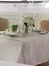 Tablecloth WaterFord Linens - Sarah / oblong 70in x 144 in/ 12-16 seats White