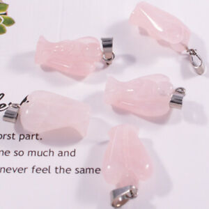 15pcs Natural angel necklace crystal stone pendant charms for jewelry making