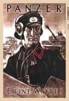 Allemande Blindé Ta Waffe 2. Guerre Mondiale Plaque Étain Signer 20 X 30 CM