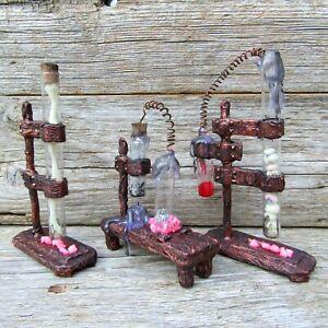 Halloween dollhouse miniature Wizard alchemy lab Cabinet curiositie Labratory