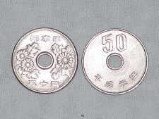 JAPAN ¥50 COIN - JAPANESE 50 YEN COINS