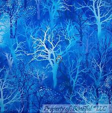 New listing BonEful Fabric Cotton Quilt Blue Aqua Cloud Tree Magic Forest Harry Potter Scrap