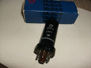 6AK7 - MULLARD METAL RADIO TUBE -  TESTED  NOS