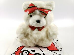 "Dayton Hudson Vintage Ms.Santa Bear 1987 16"" Collectable Christmas Plush Bear"