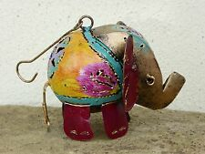 Hand Made And Painted Metal Elephant Hanger Ornament.....