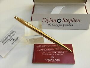 Caran D'Ache gold plated mechanical pencil + boxes