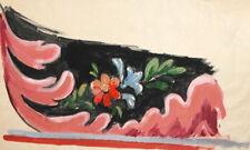 Vintage Floral Gouache Painting