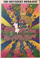 """Peter Max Psychedelic Pop Art Poster, Authentic Vintage 1971, 11 X 16"""" Hippie 2"""