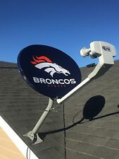 DISH Network NFL Denver BRONCOS Satellite Dish Cover NEW Custom Fit!