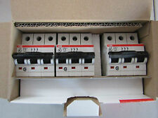 Box of 3 ABB S200U Series MCB 3P 13 A Curve C Miniature Circuit Breaker 8621504