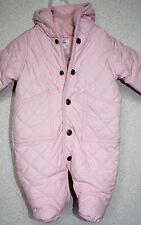 Ralph Lauren Infant Snowsuit Pink WARM Fleece lined quilted 3 month NEW