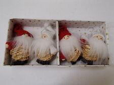 Scandinavian Swedish Finnish Danish Christmas Ornaments 4 Straw Santa Gnome #804