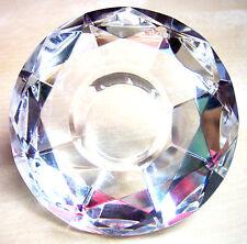 3 Kerzenhalter für Stabkerzen Kristall Effekt Glas Leuchterkerzen Deko Set
