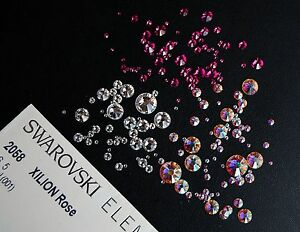 Swarovski Flat Back Crystals 2058 2088 - No Hot Fix - Various Colours and Sizes