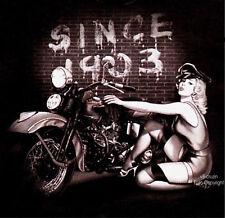 Biker T-Shirt Oldtimer Vintage  Pin-Up  Harley Oldtimer Motiv *4216 bl