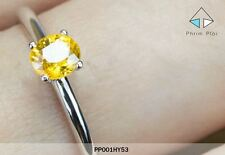 Thai Handmade 100% Natural Yellow Sapphire Gem with 925 Silver Ring Style 1