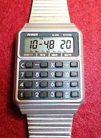 Vintage Armbanduhr,Anker,Quartz, mit RechnerDeutschland,Alarm Chronograph,Stahl