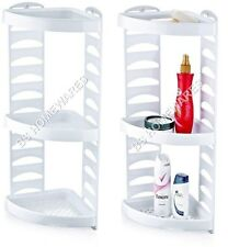 Plastic Corner Shower Caddy 3 Tier Bath Storage Shelf Rack Organiser Basket Tidy