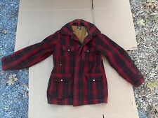 Vintage Woolrich Hunting Jacket Coat Buffalo Plaid Mackinaw Men's Size 40