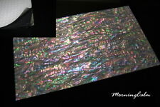 Prism Abalone Shell Wide Enhanced Adhesive Veneer Sheet (Inlay MOP Lure Luthier)