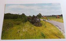 "Railroad Locomotive ""Old Number Two"" Train Postcard Geo. C. Happy Cadillac Mi"