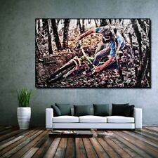 LEINWAND BILD ER XXL POP ART MOUNTAIN BIKE FAHRRAD MTB ABSTRAKT POSTER  - 150x90