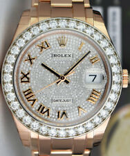 ROLEX - 18kt Rose Gold MASTERPIECE Pearlmaster Pave Diamond 86285 - SANT BLANC