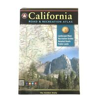 Benchmark California Road Recreation Atlas Landscape Maps Guides 2019 10th Ed.