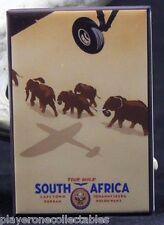 South Africa Travel Poster - Fridge / Locker Magnet.