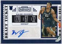 Kaleb Johnson Autograph Rookie Card 2019 Contenders Draft Picks # 104 Georgetown