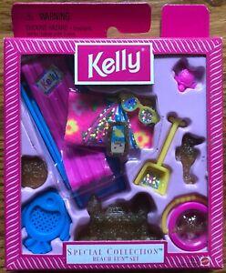 NIB KELLY BEACH FUN SET Special Collection 1998 Barbie's Lil Sis Mattel (#18433)