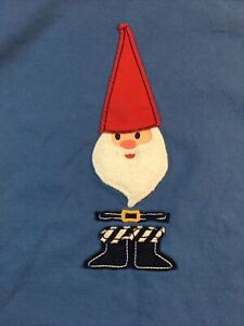 Hanna Anderson Gnome Blue Long Sleeve Size 140
