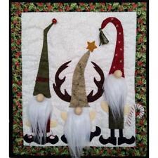Rachel's Of Greenfield Felt Applique Christmas WALL QUILT KIT Gnomes 13 x 15