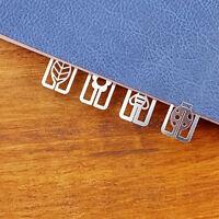 20pcs Mini Metal Bookmarks Office School Book Note Clip Chic Cute Case Box Ji