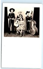 1930s Ken Mackenzie Country Music Band Pioneer Maine Vintage Photo Postcard B73