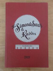 NEW OLD STOCK Handsaws Catalogue reprint 1919 Simonds Saws & Knives