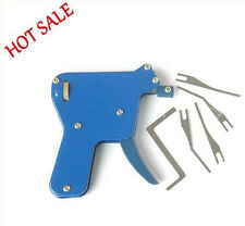 Gun Manual Blue Lock Pick Locksmith Tool Door Opener Bump Key + GIFT + 12 Guides