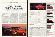 1993 Ford Taurus SHO Original Review Report Print Car Article K59