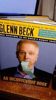 """Glenn Beck Signed Book! """"An Inconvenient Book"""""""
