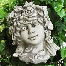 Betonguss Blumenkind Sommer Gartenfigur Skulptur Deko Gartenstab Figur Garten