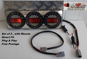 Maxilamp LED Tail light Kit Direct Plug in with Mounts Toyota Landcruiser