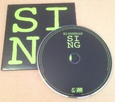 Ed Sheeran - Sing UK Promo Cd Single Ultra Rare In Card Sleeve X + Divide