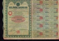 GREECE BANK Selanik Bankasi Banque de Salonique dd 1888