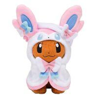 """Pokemon Center Eevee Poncho Sylveon Nymphia Plush Doll Soft Figure Toy Gift 7"""""""