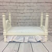 VTG Little Tikes Big Dollhouse Accessory Four Poster Bed 5512 Barbie My Size '93