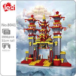 Lezi Architecture Journey to West Nantian Gate Mini Diamond Building Blocks